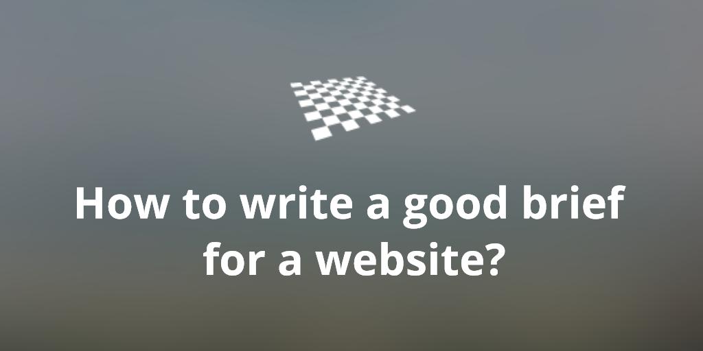 write a brief for a website